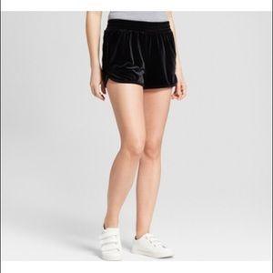 Mossimo supply co. Black velvet shorts